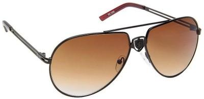 Gansta Gansta RS-1006 Brown aviator sunglass Aviator Sunglasses(Brown)