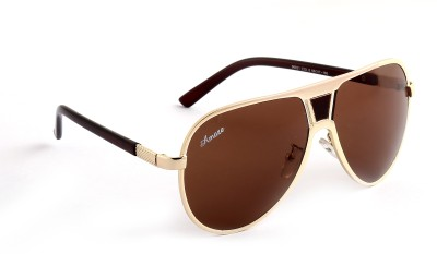 Amaze AM0943 Aviator Sunglasses(Brown)