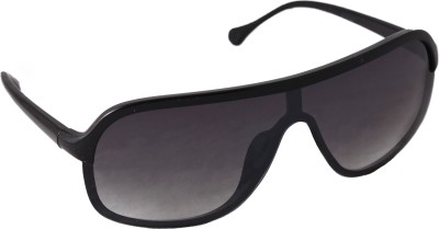 QWERTY Retro Black Wayfarer Oval Sunglasses