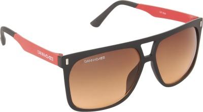 Danny Daze D-3214-C5 Rectangular Sunglasses(Brown)