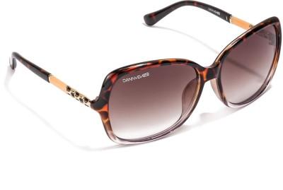Danny Daze D-226-C4 Over-sized Sunglasses(Brown)