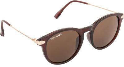 Danny Daze D-2531-C1 Round Sunglasses(Black)