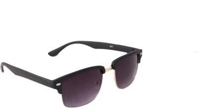 QWERTY Black Clubmaster Golden Frame Wayfarer Sunglasses