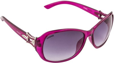 Voyage MG206 Oval Sunglasses(Black)