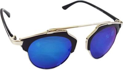 Zaira diamond Round Sunglasses