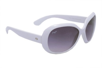Floyd 4098_WHITE_GREY Oval Sunglasses(Grey)
