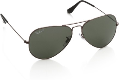 Ray-Ban 0RB3025 004/58 Aviator Sunglasses(Green)