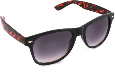 Vast vast9568brown Wayfarer Sunglasses(Grey)