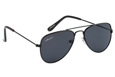 Amaze Kids Full Black Aviator Sunglasses