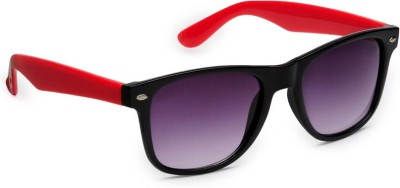 Allen Cate Black Red Side Wayfarer Sunglasses