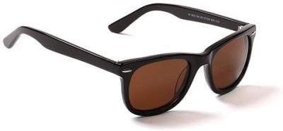 Jewel Fuel Stylish Brown Wayfarer Sunglasses