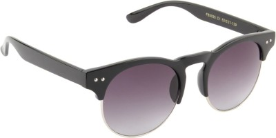 Funky Boys 3035-C1 Round Sunglasses(Grey)