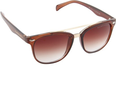 Farenheit 1203-C3 Wayfarer Sunglasses(Brown)