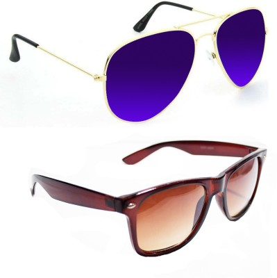 Epic Ink aset2087 Aviator, Wayfarer Sunglasses(Violet, Blue)