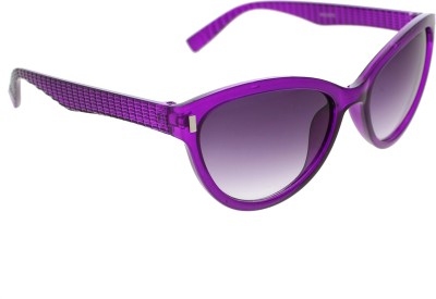 Vast WOMENS _3075_PIN_CATEYE_PURPLE_GLARES Wayfarer Sunglasses(Grey)