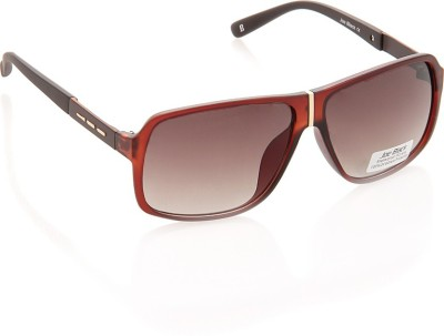 Joe Black JB-596-C3 Rectangular Sunglasses(Brown)