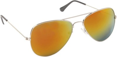 VIJEX MIRRORED YELLOW Aviator Sunglasses