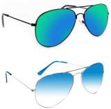 Epic Ink CM3981 Aviator Sunglasses (Gree...