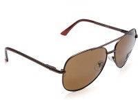 Force F8024 P M.BRW 3BRW Aviator Sunglasses(Brown)