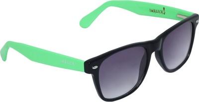 Imagica Green Wayfarer Sunglasses