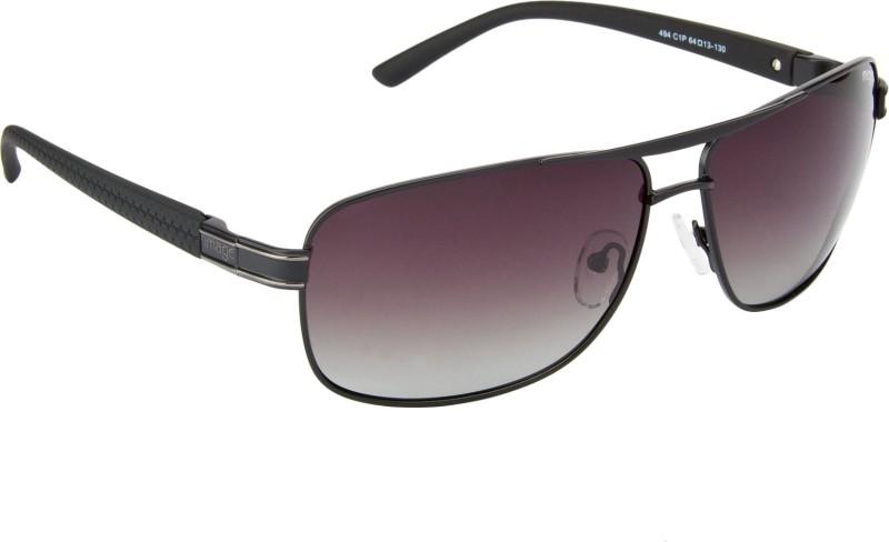 Image S494-C1P Rectangular Sunglasses(Brown)