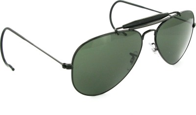 Ray-Ban RB3030L9500 Aviator Sunglasses(Green) at flipkart
