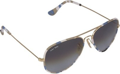 Allen Solly AS276 C2 Aviator Sunglasses(Grey)