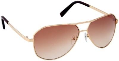 Gansta Gansta MH-1003 Gold sunglass Aviator Sunglasses(Brown)