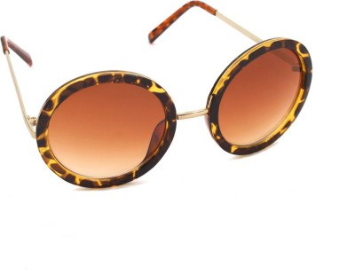 6by6 SG734 Round Sunglasses(Brown)