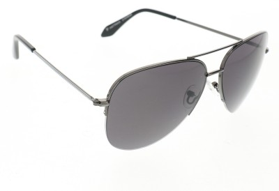 Vast 1810_men_women_shiny_grey_gun_aviator Aviator Sunglasses(Grey)