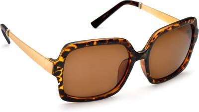 De Rene Branch�� (Leopard) Over-sized Sunglasses