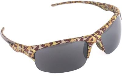 Vast vastDD005millitary Wrap-around Sunglasses(Grey)