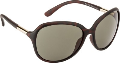 Farenheit FA-2318-C2 Over-sized Sunglasses(Green)