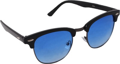 QWERTY Blue Clubmaster Wayfarer Sunglasses
