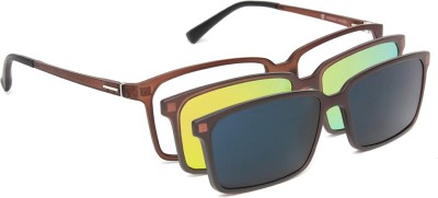 Herman Hansen Magnetic Multi-Vision Rectangular Sunglasses