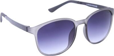 Gansta Gansta GN-11044 Grey rectangular wayfarer sunglass with gradient lens Wayfarer Sunglasses(Grey)