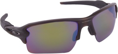 Oakley Flak 2.0 XL Matte Rootbeer w/ Prizm Shallow Water Polarized Wrap-around Sunglasses at flipkart