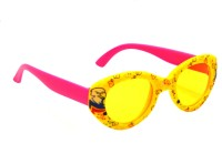 Goggy Poggy FNBABY-3005-YEL-PNK Oval Sunglasses(For Girls)