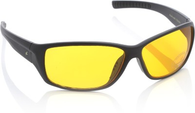 Fastrack P293AM4 Wrap-around Sunglasses(Yellow)