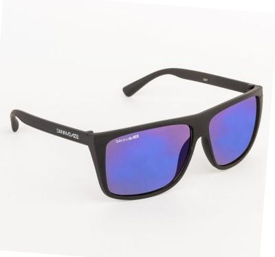 Danny Daze D-1611-C1 Rectangular Sunglasses(Blue)