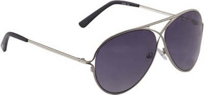 Van Heusen VH201 C2 Aviator Sunglasses(Black)