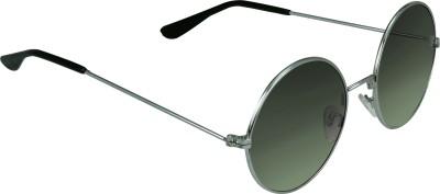 Garmor (8903522114946 /Black Color Silver Frame) Round Sunglasses