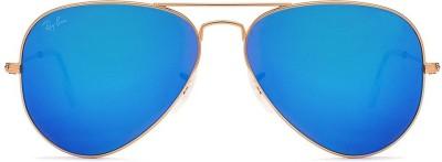 Ray-Ban RB3025112/17 Aviator Sunglasses(Blue)