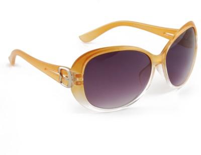 Brooch Oval Sunglasses
