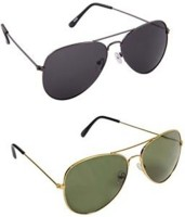 Benour BENCOM123 Aviator, Aviator Sunglasses(Black, Green) best price on Flipkart @ Rs. 555