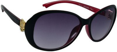 Red Knot 15112-BLK-RED-BLK-60 Over-sized Sunglasses(Black)