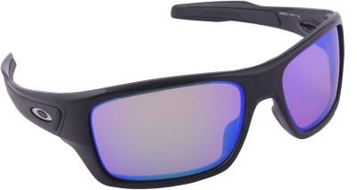 Oakley Turbine Polished Black w Prizm Golf Wrap-around Sunglasses