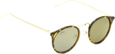 I-GOG Round Golden Mirror Round Sunglasses