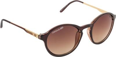 Danny Daze D-2530-C2 Round Sunglasses(Brown)