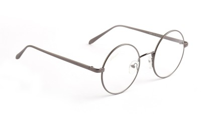 Amaze Silver Medium Round Sunglasses